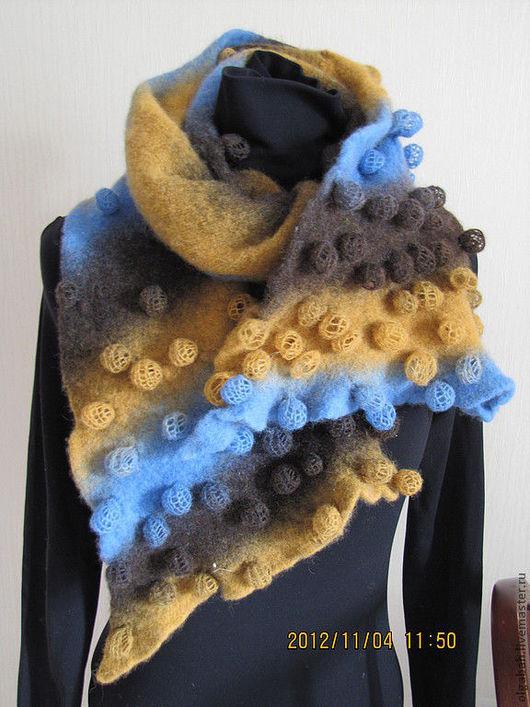 Шарфы и шарфики ручной работы. Ярмарка Мастеров - ручная работа. Купить шарф-скидка. Handmade. Абстрактный, шерсть 100%