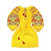 """Одежда handmade. Livemaster - original item Платье-вышиванка """"Цвет Папоротника"""". Handmade."""