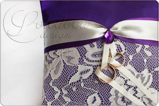 "Подушечка для колец ""Феерия""\r\nПодушечки для колец, подушечка для свадьбы, подушечка для загса,свадебная подушечка."