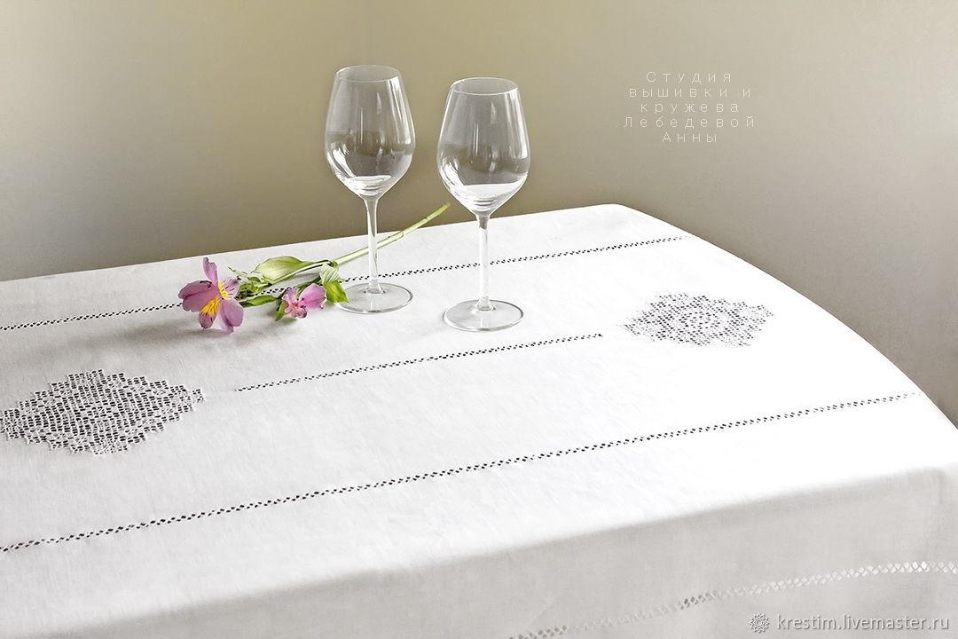 Tablecloth 3 Kuban flax 100%( napkins optional), Tablecloths, St. Petersburg,  Фото №1