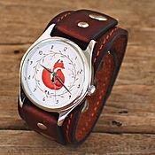 """Украшения ручной работы. Ярмарка Мастеров - ручная работа Часы наручные """"Лис"""" на кожаном ремешке ручной работы. Handmade."""