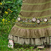 Одежда ручной работы. Ярмарка Мастеров - ручная работа Юбка длинная «Ближе к природе». Handmade.