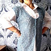 Одежда ручной работы. Ярмарка Мастеров - ручная работа Ажурный жилет Деним. Handmade.