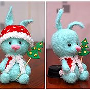 Куклы и игрушки ручной работы. Ярмарка Мастеров - ручная работа Голубой зай. Handmade.