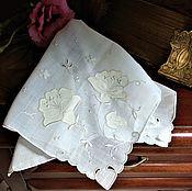 Винтаж ручной работы. Ярмарка Мастеров - ручная работа Винтажный дамский платочек. Handmade.