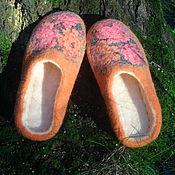 Обувь ручной работы. Ярмарка Мастеров - ручная работа Яркие валяные тапочки. Handmade.