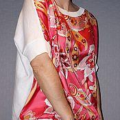 Одежда ручной работы. Ярмарка Мастеров - ручная работа туника шелк Pucci с трикотажем. Handmade.