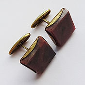 Винтаж handmade. Livemaster - original item Cufflinks-rhodonite, 1970s. Handmade.