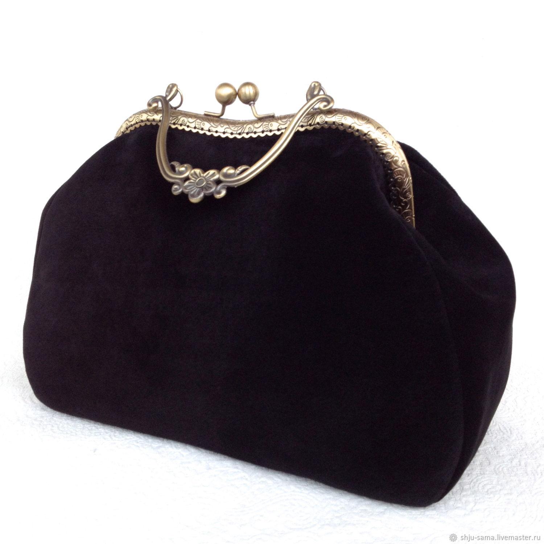 21a277b745cf Женские сумки ручной работы. Ярмарка Мастеров - ручная работа. Купить Сумка  замшевая черная на ...