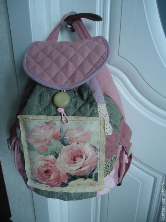 """Рюкзаки ручной работы. Ярмарка Мастеров - ручная работа. Купить Рюкзак """"Розовые розы"""". Handmade. Розовый, купить рюкзак, роза"""