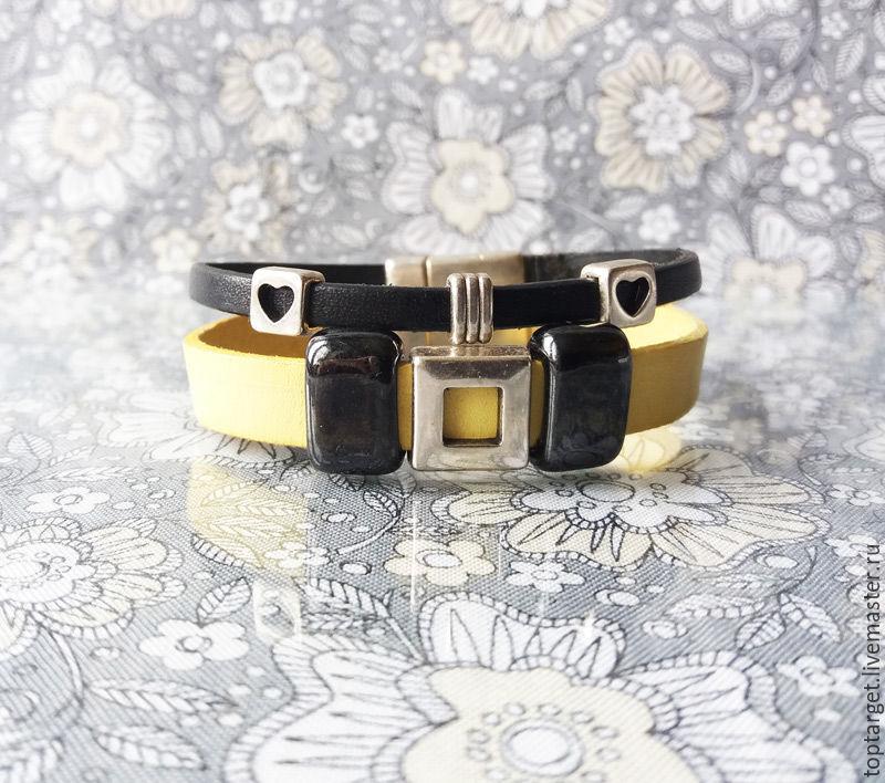 """Женский кожаный браслет """"New Style """""""
