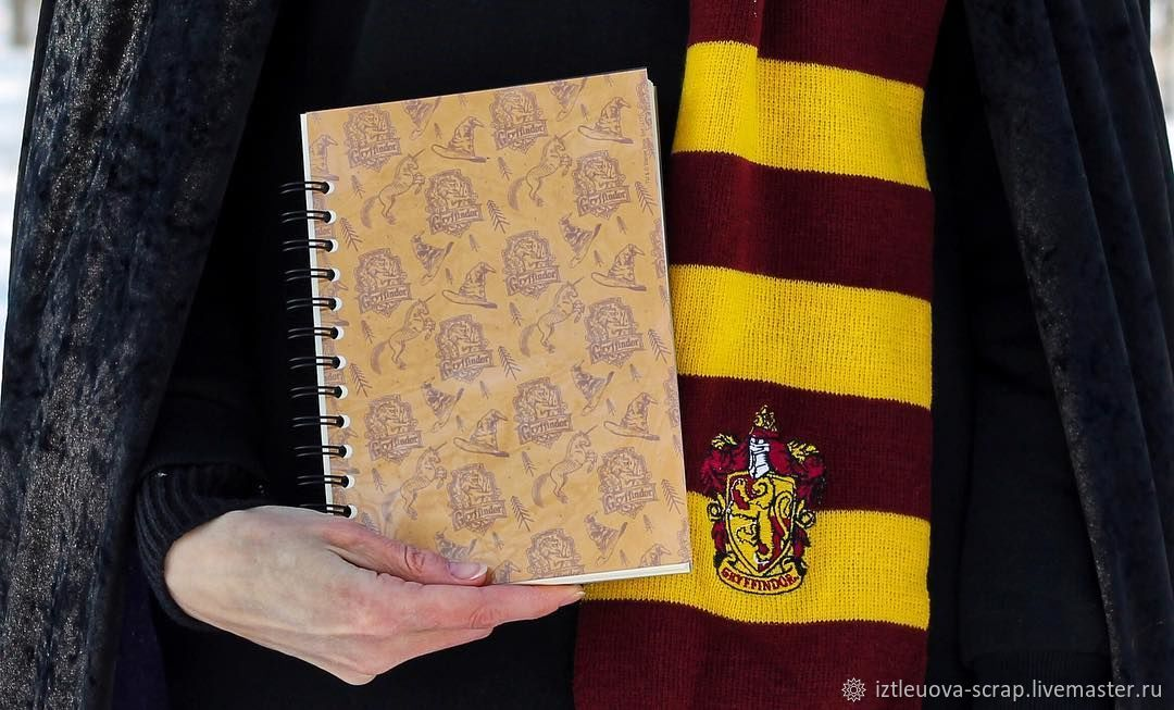 """Блокноты ручной работы. Ярмарка Мастеров - ручная работа. Купить Блокнот """"Факультеты Хогвартса"""". Handmade. Гарри Поттер, блокнот для записей"""