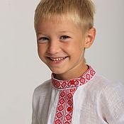 """Народные рубахи ручной работы. Ярмарка Мастеров - ручная работа Косоворотка для мальчика """"Лучик"""". Handmade."""