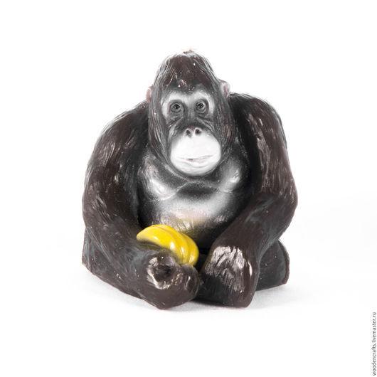 """Новый год 2017 ручной работы. Ярмарка Мастеров - ручная работа. Купить Свеча """"Обезьяна с бананами"""". Handmade. Символ 2016 года"""
