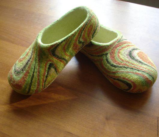 """Обувь ручной работы. Ярмарка Мастеров - ручная работа. Купить Тапочки """"Лето"""". Handmade. Комбинированный, подарок на любой случай"""