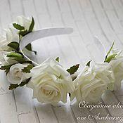 Украшения ручной работы. Ярмарка Мастеров - ручная работа Ободки с бархатными розами, 3 цвета. Handmade.