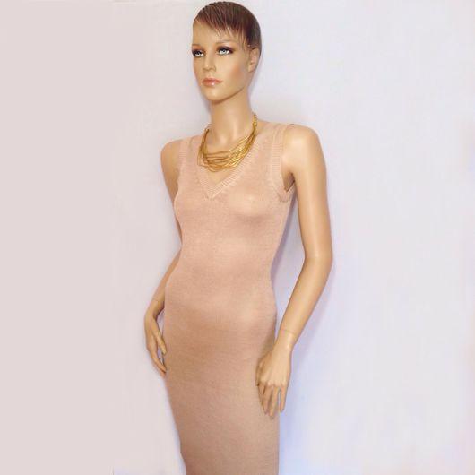 Платья ручной работы. Ярмарка Мастеров - ручная работа. Купить Платье длинное. Handmade. Бежевый, платье в пол, платье базовое