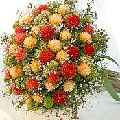 Цветы и флористика ручной работы. Ярмарка Мастеров - ручная работа «Лето» букет из сухоцветов. Handmade.