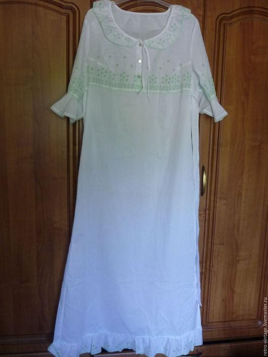 Одежда. Ярмарка Мастеров - ручная работа. Купить Ночная сорочка, Германия.. Handmade. Белый, белье женское