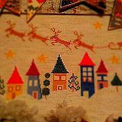 """Картины и панно ручной работы. Ярмарка Мастеров - ручная работа Вышивка крестом """"Я спешу под Новый год"""". Handmade."""