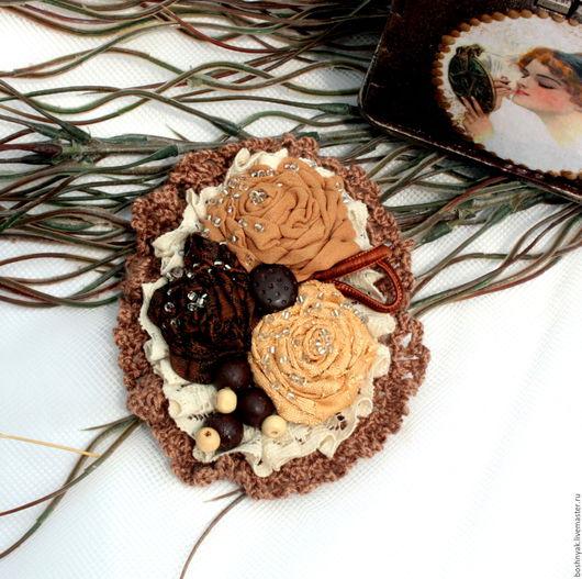 """Броши ручной работы. Ярмарка Мастеров - ручная работа. Купить Брошь текстильная  бохо """"Три розы"""". Handmade. Комбинированный, розы"""