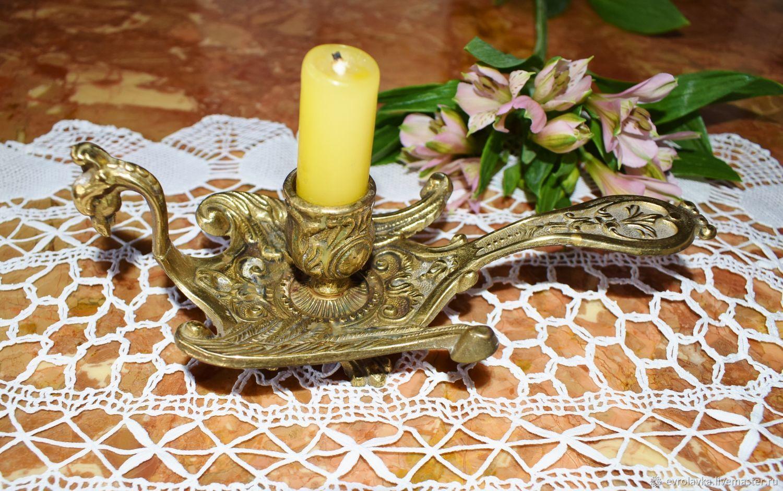 Vintagey brass candlestick 'Bird'. France, Vintage interior, Trier,  Фото №1