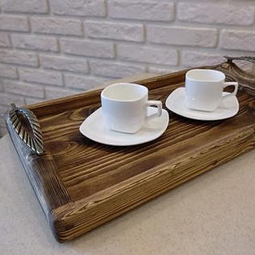 Для дома и интерьера ручной работы. Ярмарка Мастеров - ручная работа Поднос деревянный сервировочный. Handmade.