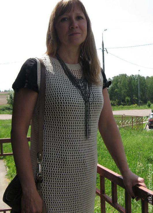 Платья ручной работы. Ярмарка Мастеров - ручная работа. Купить Платье Сеточка. Handmade. Бежевый, сетка, платье в пол, Металлик
