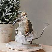 Мягкие игрушки ручной работы. Ярмарка Мастеров - ручная работа Крысюля-балеринка .... Handmade.
