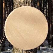 Музыкальные инструменты handmade. Livemaster - original item Vedic tambourine beige 40 cm. Handmade.