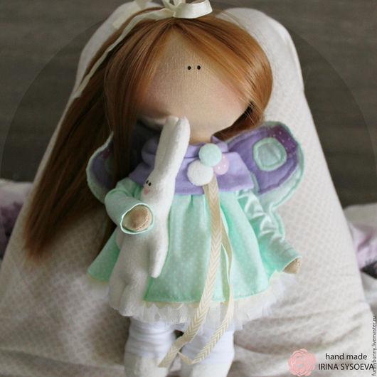 Коллекционные куклы ручной работы. Ярмарка Мастеров - ручная работа. Купить Малышка бабочка. Handmade. Сиреневый, куколка ручной работы