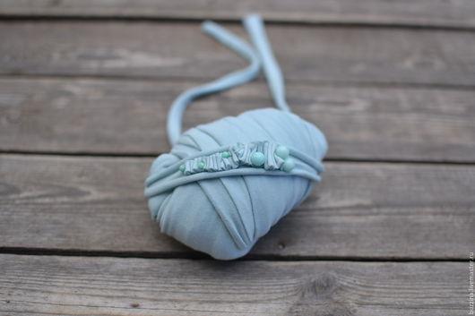 Для новорожденных, ручной работы. Ярмарка Мастеров - ручная работа. Купить Повязка на голову Море + стрейчевая обмотка для фотосессии. Handmade.