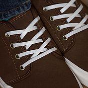 Пояса ручной работы. Ярмарка Мастеров - ручная работа Силиконовые шнурки. Белые плоские.. Handmade.