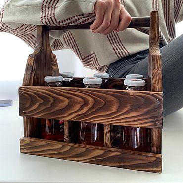Для дома и интерьера ручной работы. Ярмарка Мастеров - ручная работа Элементы интерьера: Подставка для бутылок. Handmade.