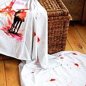 Ткани ручной работы. Ярмарка Мастеров - ручная работа В печати. Ванильное небо.. Handmade.