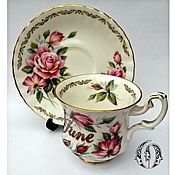 Винтаж ручной работы. Ярмарка Мастеров - ручная работа Golden Crown Staffordshire Кофейная Пара Англия. Handmade.