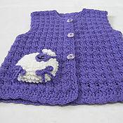Работы для детей, handmade. Livemaster - original item Vest child knit crochet tank top knitted. Handmade.