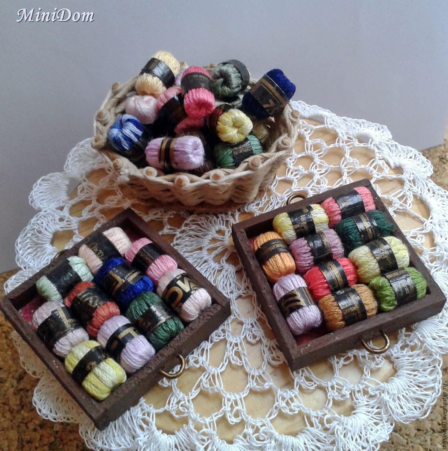 Dollhouse Accessories Yarn For Knitting For Dollhouse Miniature