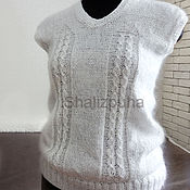 Одежда handmade. Livemaster - original item 373, downy knitted Vest without zipper. Handmade.