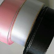 Материалы для творчества handmade. Livemaster - original item Satin ribbon with lurex 25 mm. Handmade.