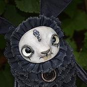 Куклы и игрушки ручной работы. Ярмарка Мастеров - ручная работа Зайка- черный Пьеро. Handmade.
