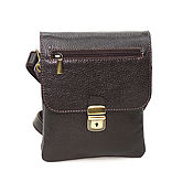 Сумки и аксессуары handmade. Livemaster - original item Leather bag men`s brown Prometheus Mod S61k-122. Handmade.