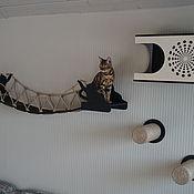 Зоотовары handmade. Livemaster - original item Wall-mounted complex for cats