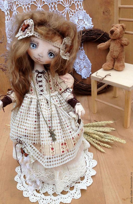 Коллекционные куклы ручной работы. Ярмарка Мастеров - ручная работа. Купить Юляша. Handmade. Бежевый, Бохо платье, авторская кукла
