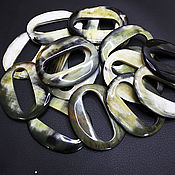 Материалы для творчества handmade. Livemaster - original item The pendant/Connector/Pendant for Zebu Buffalo Horn Earrings 60h48mm. Handmade.