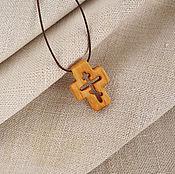 """Украшения ручной работы. Ярмарка Мастеров - ручная работа """"Акафист"""" - деревянный нательный крест из кипариса. Handmade."""