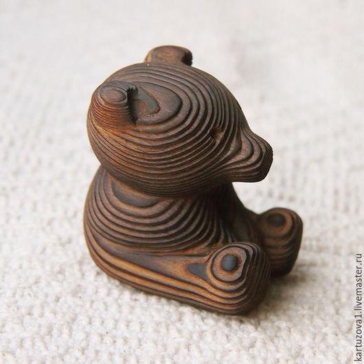 Статуэтки ручной работы. Ярмарка Мастеров - ручная работа. Купить мишка Митя. Handmade. Коричневый, резьба по дереву, сосна