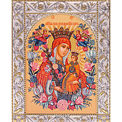 Картины и панно handmade. Livemaster - original item Fadeless Color the icon of the virgin (14h18sm). Handmade.