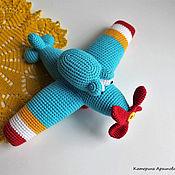 Куклы и игрушки ручной работы. Ярмарка Мастеров - ручная работа Самолёт вязаный.. Handmade.