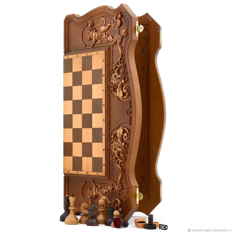 """Backgammon """"Three bears in the woods"""", Chess, Ivanovo,  Фото №1"""